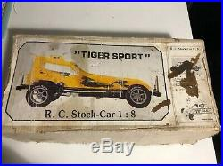 Vintage 1970s Dutch Yucan Tiger Sport Nitro RC HGK Engine Original box RARE