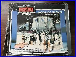 Vintage 1980 Star Wars Hoth Ice Planet Playset with Original Box- rare by Kenner