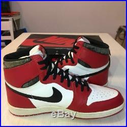 Vintage 1985 AIR JORDAN1 HIGH ORIGINAL CHICAGO Sneakers US 13 With Box Rare