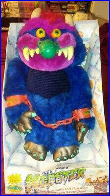 Vintage 1986 My Pet Monster ORIGINAL BOX Plush Doll AmToy Handcuffs RARE