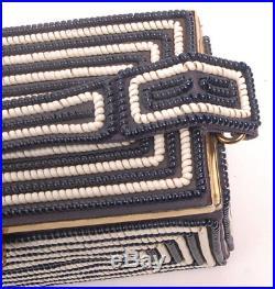 Vintage 50s TELEPHONE CORDE CORD Coil Handbag Box Purse Rare Blue & White Colors