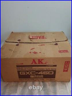 Vintage Akai GXC-46D Stereo Cassette DECK in rare original box