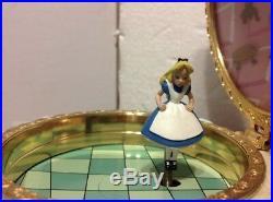 Vintage Alice In Wonderland Jewelry Music Box RARE HTF With ORIGINAL BOX