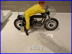 Vintage/Antique Kyosho RC Mortorcycle withRider. Chain drive. Original box. RARE