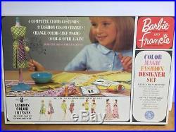 Vintage Barbie Color Magic Fashion Designer Set Box 1965 Rare