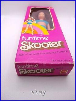 Vintage Barbie Skipper Funtime Skooter Doll In Original Box #7381 Rare European
