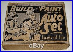 Vintage Barclay Build and Paint Auto Set 3 Vehicles in Original Box RARE