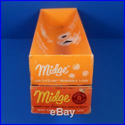Vintage Mattel BLOND AMERICAN GIRL MIDGE in BOX Rare Find! Excellent