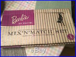 Vintage Mattel Barbie Mix'n' Match Gift Set in box Clothing NRFB Rare