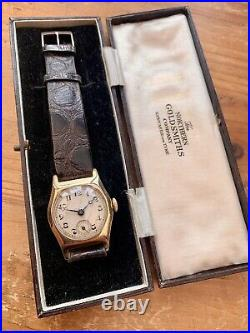 Vintage Mens 1933 ROTARY 9ct Solid Gold Watch. Original Box/Papers! Rare