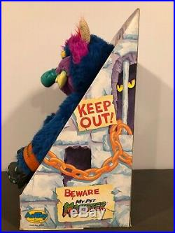 Vintage My Pet Monster, Original 1986 Box, AmToy, With Shackles/handcuffs! RARE