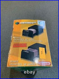 Vintage Nintendo 64 Game Cartridge Organizer Storage Draw with ORIGINAL BOX! RARE