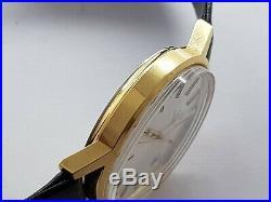 Vintage Omega Genève Gold Plated Men's Watch Original Box & Papers Mint Rare