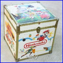 Vintage Original Nintendo Zelda Super Mario Bros Toy Chest Wooden Box Trunk RARE