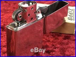 Vintage RARE! 1946 Zippo Tall Nickel Silver case & Original 14 hole Insert w box