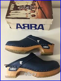 Vintage RARE 1970s ABBA CLOGS BY TRETORN WITH ORG BOX, MFG. IN SWEDEN