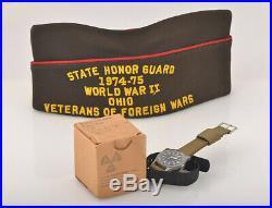 Vintage Rare Hamilton GG-W-113 Military Pilot Watch/Original Box/army uniform