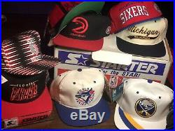Vintage Rare Lot Of 12 Deadstock Starter Snapback Hats With Original Display Box