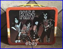 Vintage & Rare ORIGINAL 1977 Aucoin Mgt (KISS LUNCH BOX) & 1978 Card Box