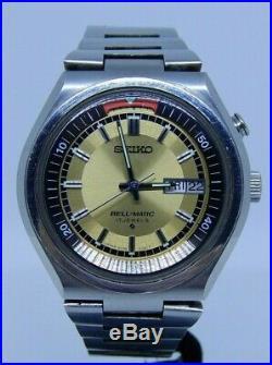 Vintage Rare Seiko Bellmatic Automatic Date Watch Jps Dial Box Original Bracelet