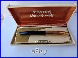 Vintage Sheaffer PFM II Fountain Pen Rare Black 14k Nib Gold with original Box