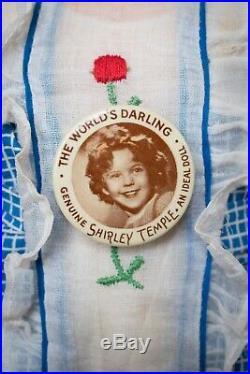 Vintage Shirley Temple Composition Doll 1930s 18 Rare Human Hair Original Box