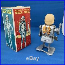 Vintage Toy Robot Space Patrol Japan 1960s in its Original Box Super Rare