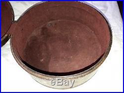 Vintage/antique Leather Hat Box Bonnet Box Rare Box