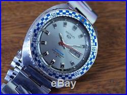 Vintage mens Seiko Rally diver 6119-7173 grey dial all original with box rare