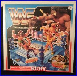 WWF Hasbro Rare Wrestling Ring Original New Unopened in Box WWE French Canadian