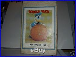 Walt Disney Mint In Box Vintage California Originals Donald Duck Cookie Jar Rare