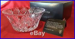 Waterford Crystal 10 Inch Cassidy Bowl Rare New & Original Box LAST 1 EVER