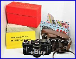 Widelux F7 35mm Panoramic Camera with Original Box & Papers MINT RARE