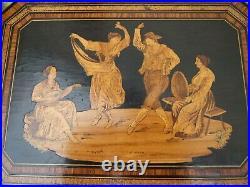 Wonderful Large Rare 19c Antique Sorrento Inlaid Jewellery Box Fab Interior