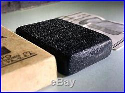 Ww2 Black Crackle Zippo Lighter Rare 1943 Original Box And Instructions