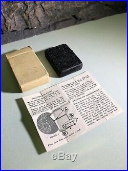 Ww2 Black Crackle Zippo Lighter Rare 1943 Original Box With Instructions