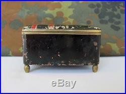 Wwii Original German Wehrmacht Metal & Wood Box For Medal Order Xtr. Rare