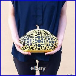 YAYOI KUSAMA Clutch Bag Pumpkin Dot Yellow Rare Special version with limited BOX