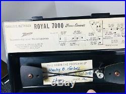 Zenith Royal 7000 Transoceanic Radio Set With Original Box Rare